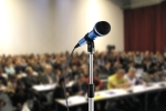 Microphone-at-conference